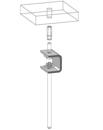 Потолочный подвес кабельного лотка планка KPTC